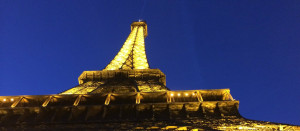 Paris Eiffel Tower at night 1366 x 597