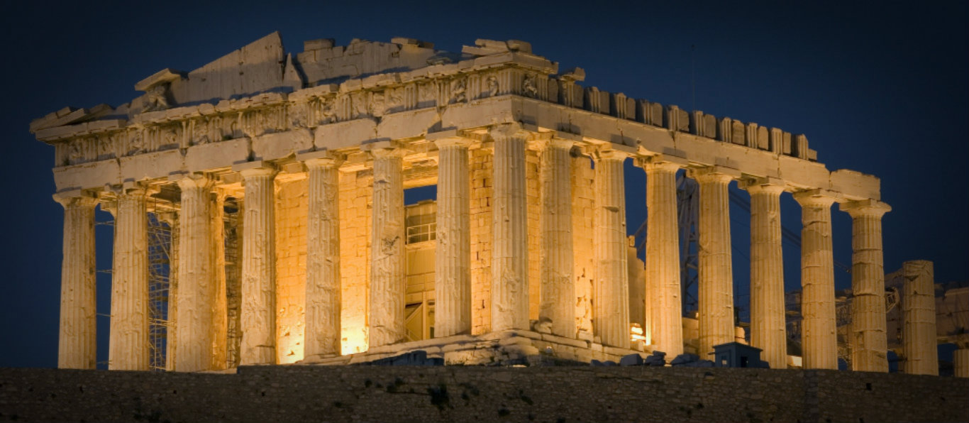 Parthenon Greece night 1366 x 597 edit